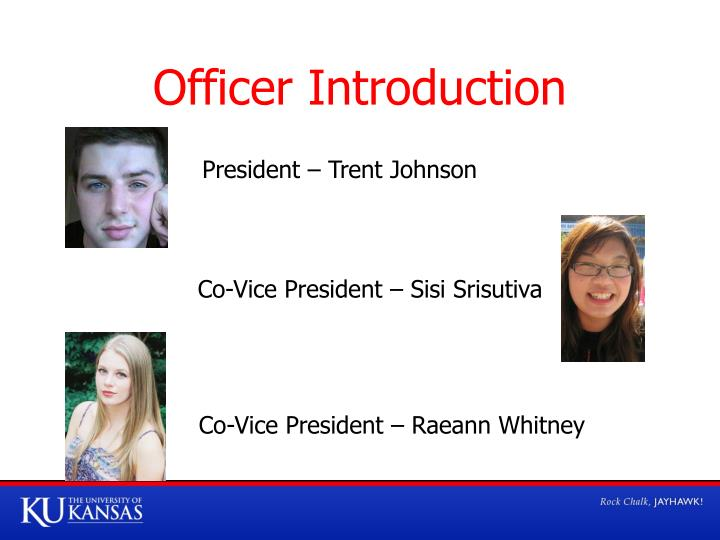 Officer Introduction