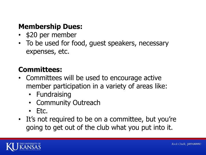 Membership Dues: