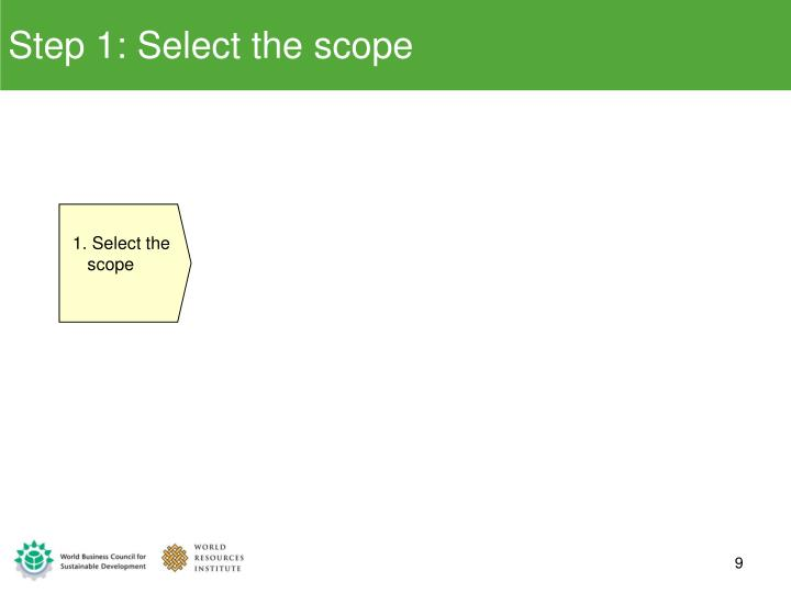 Step 1: Select the scope