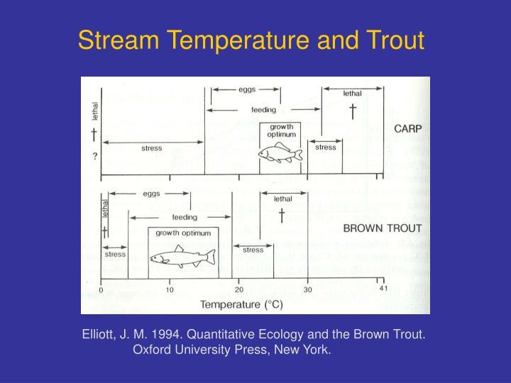 Stream Temperature and Trout