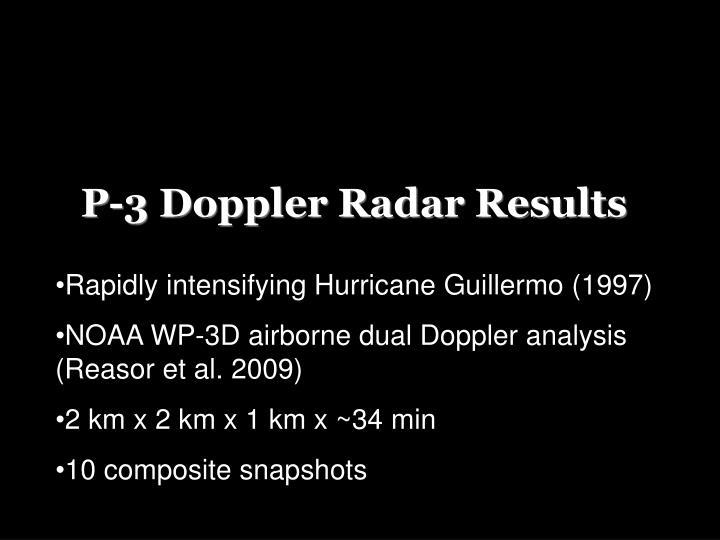 P-3 Doppler Radar Results