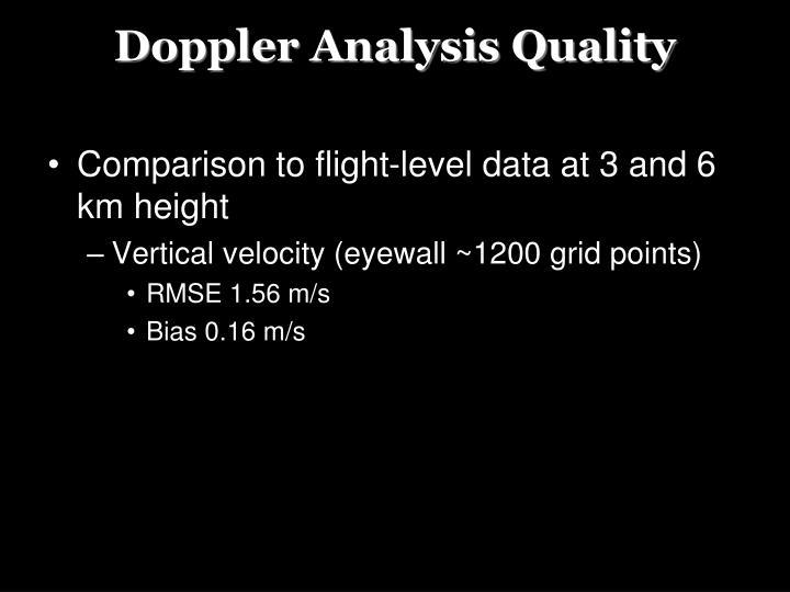 Doppler Analysis Quality