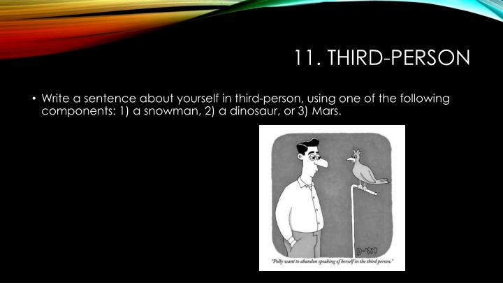 11. Third-person