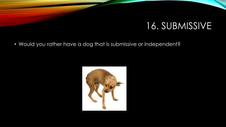 16. submissive
