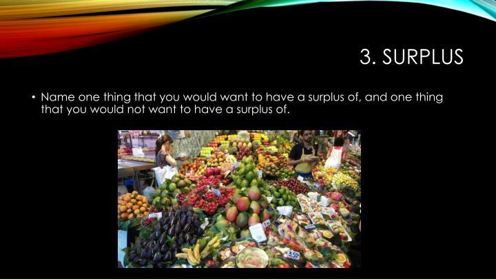3. Surplus