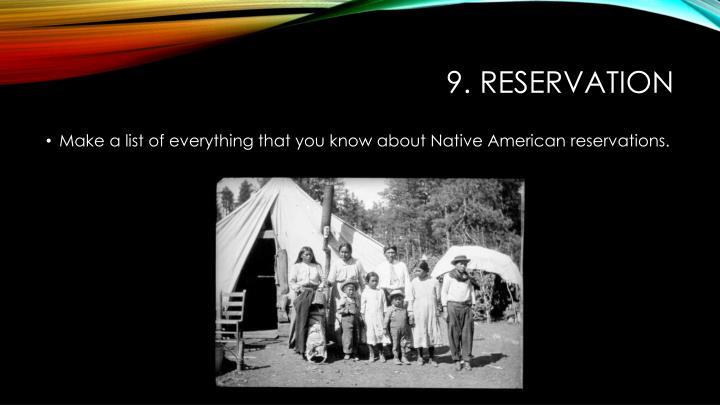 9. reservation