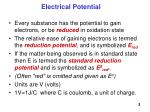 electrical potential