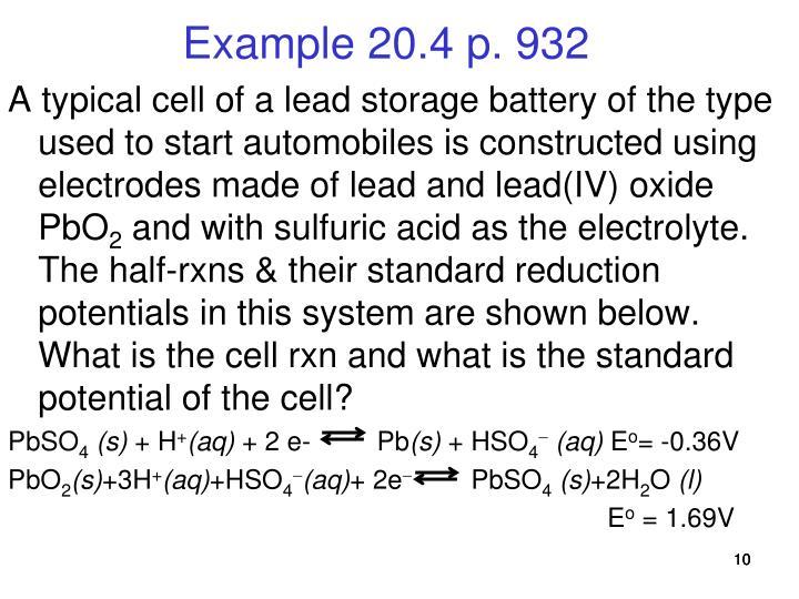 Example 20.4 p. 932