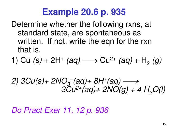 Example 20.6 p. 935