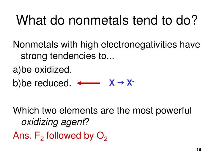 What do nonmetals tend to do?
