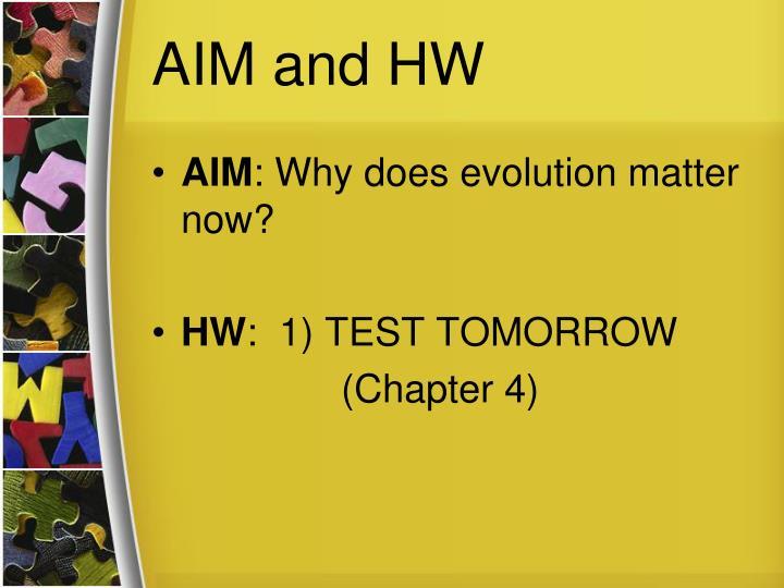 AIM and HW