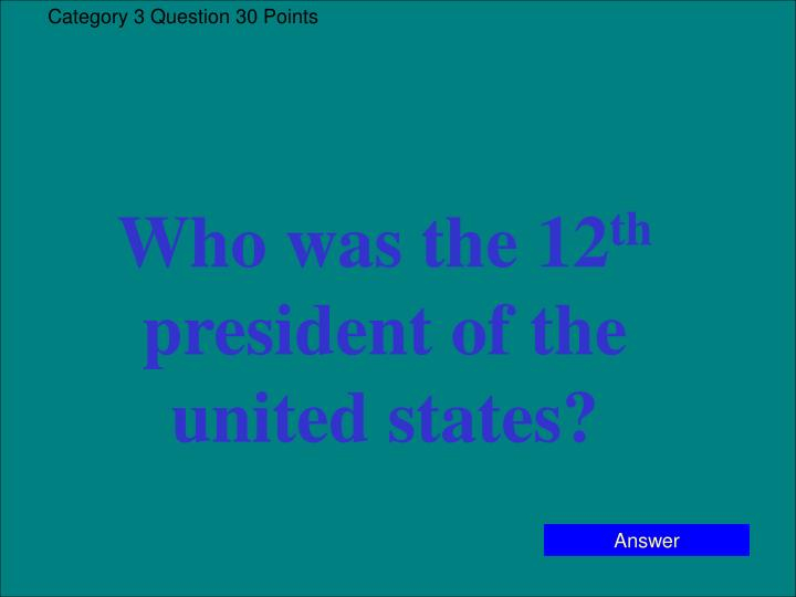Category 3 Question 30 Points