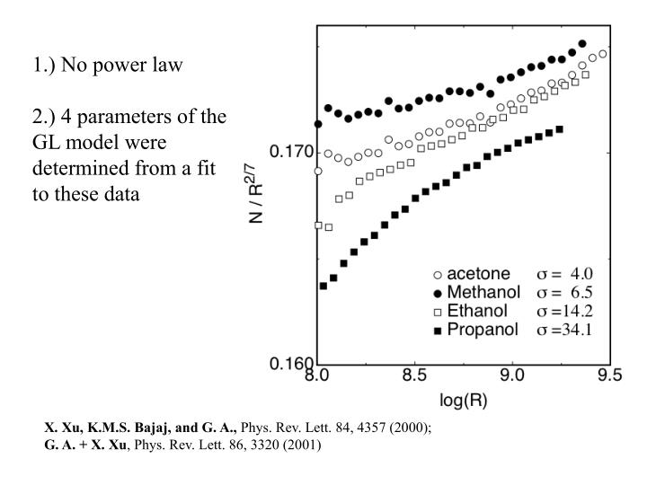 1.) No power law