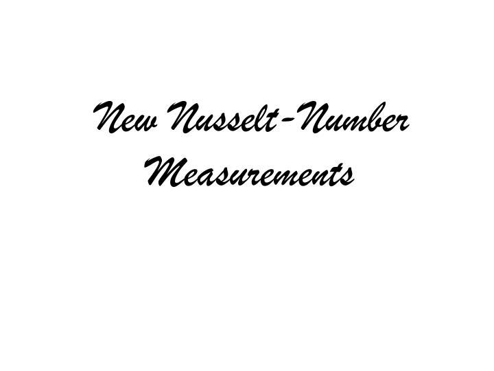 New Nusselt-Number