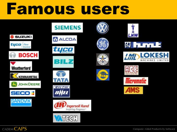 Famous users