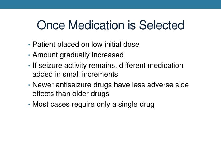 Once Medication is Selected
