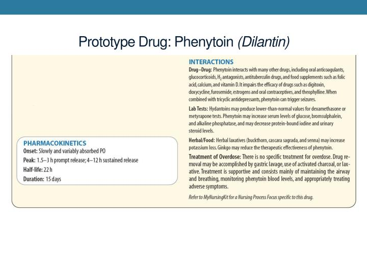 Prototype Drug: Phenytoin