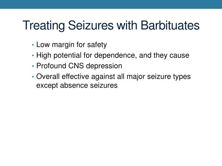 Treating Seizures with Barbituates