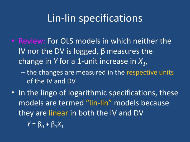 Lin-lin specifications