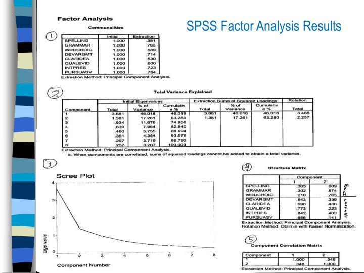SPSS Factor Analysis Results