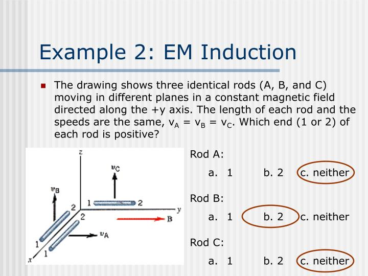 Example 2: EM Induction