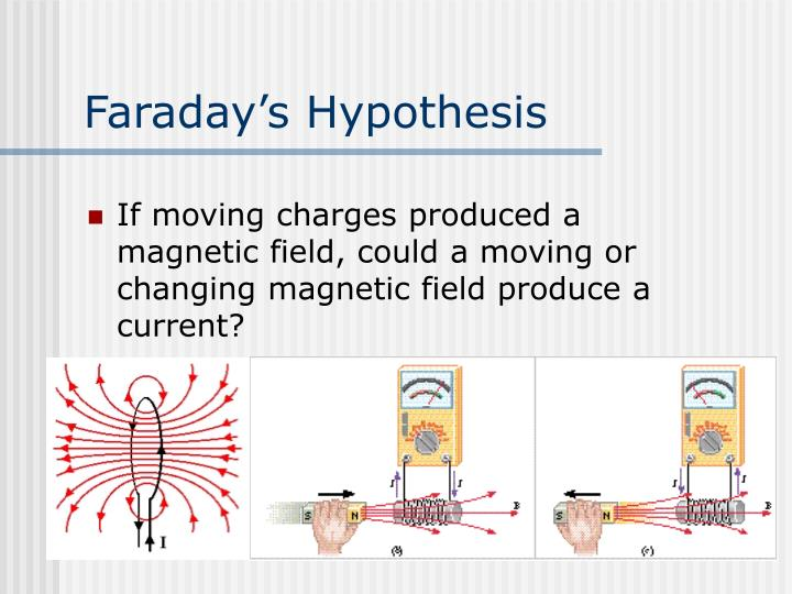 Faraday's Hypothesis