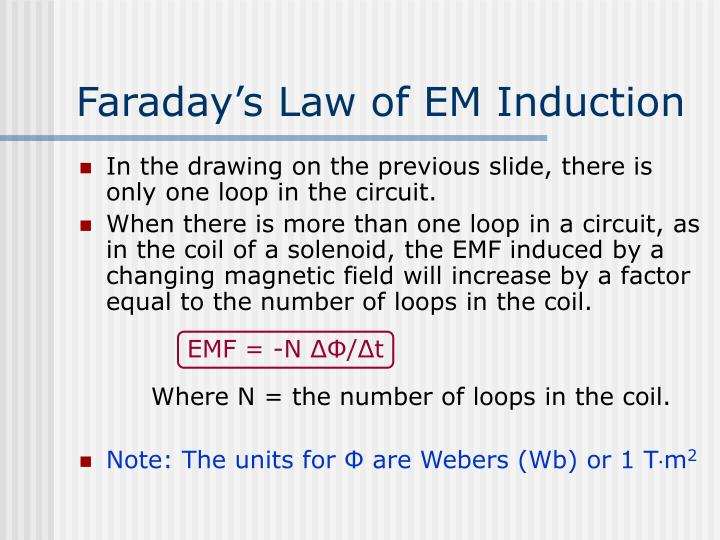 Faraday's Law of EM Induction