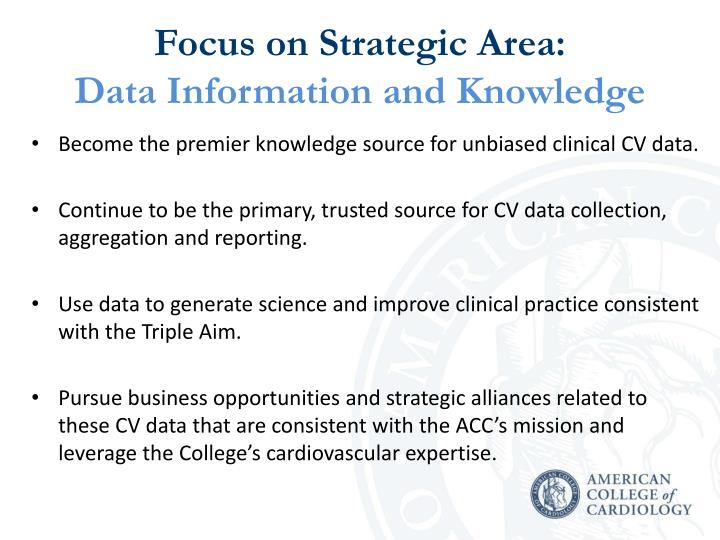 Focus on Strategic Area: