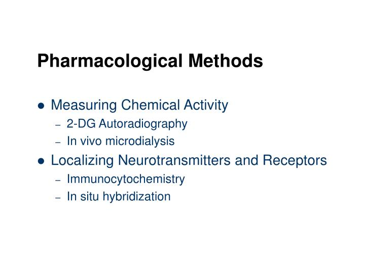 Pharmacological Methods