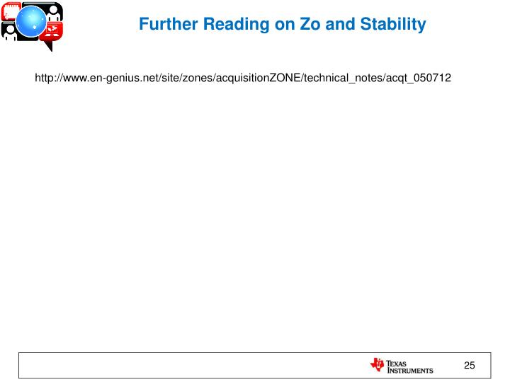 Further Reading on Zo and Stability