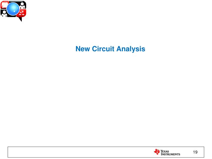 New Circuit Analysis