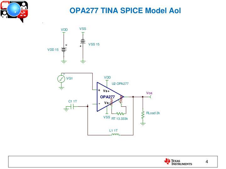 OPA277 TINA SPICE Model Aol