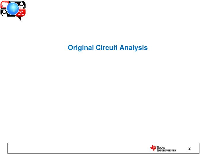 Original circuit analysis