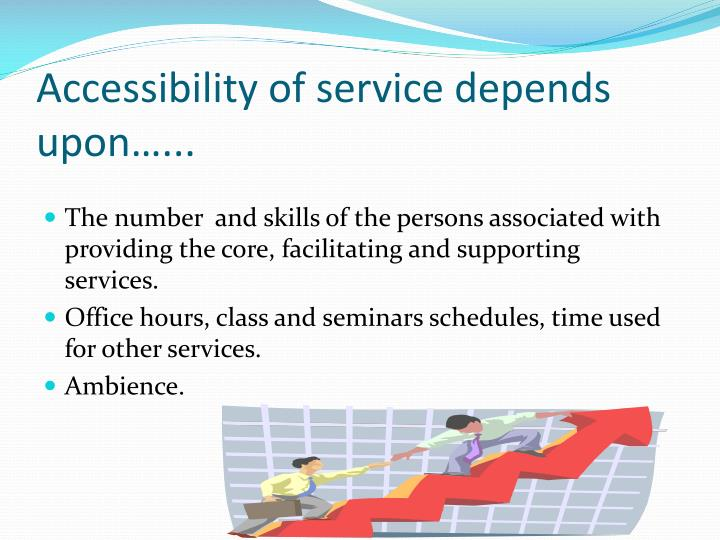 Accessibility of service depends upon…...
