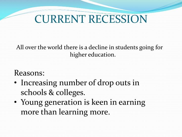 CURRENT RECESSION