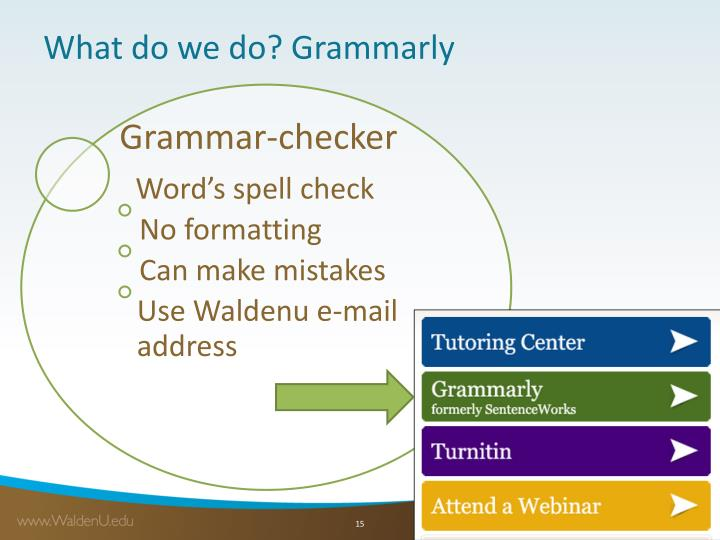 What do we do? Grammarly