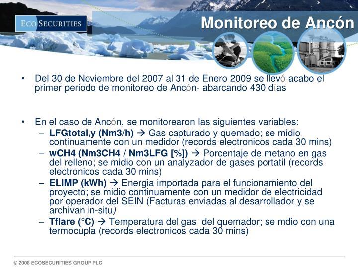 Monitoreo de Ancón