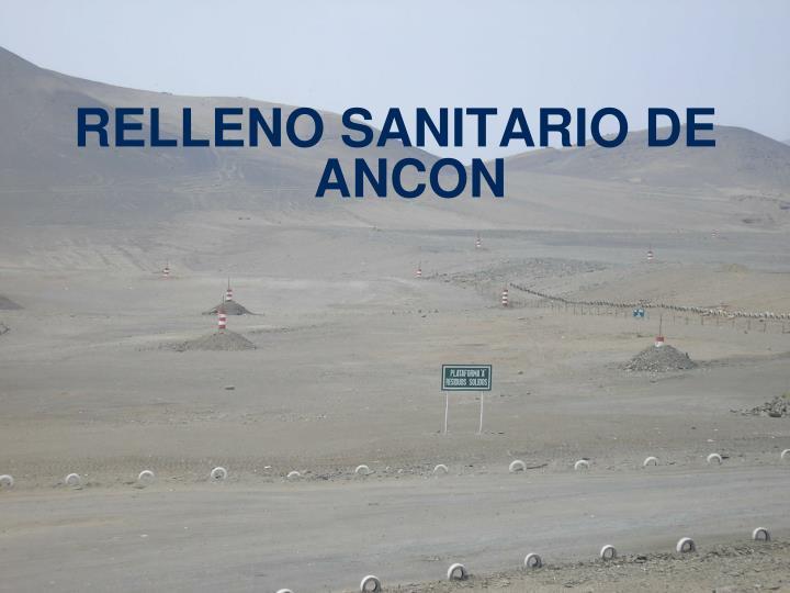 RELLENO SANITARIO DE ANCON