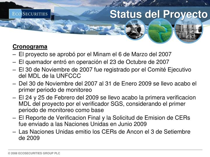 Status del Proyecto
