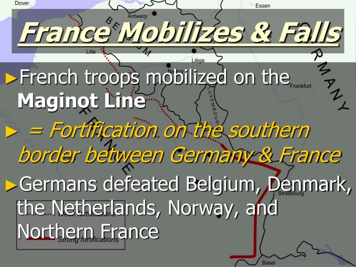 France Mobilizes & Falls