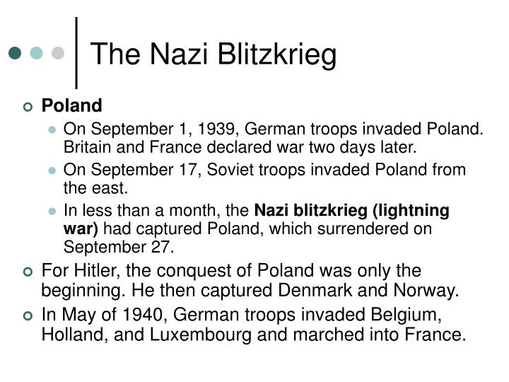 The Nazi Blitzkrieg