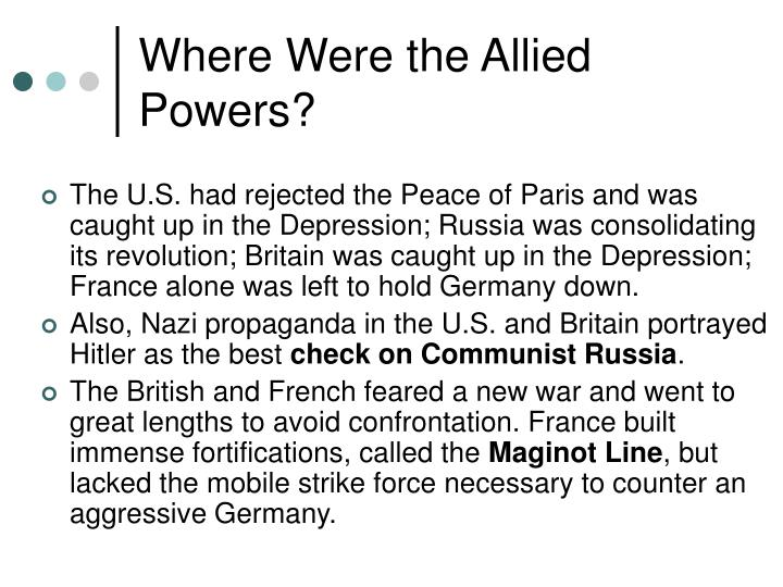 Where Were the Allied Powers?