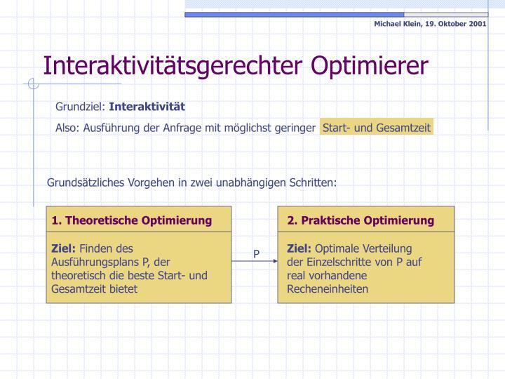 1. Theoretische Optimierung