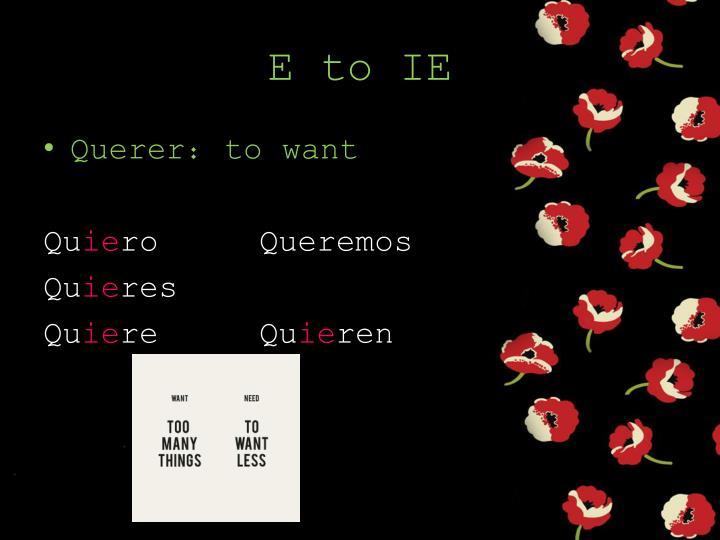 E to IE