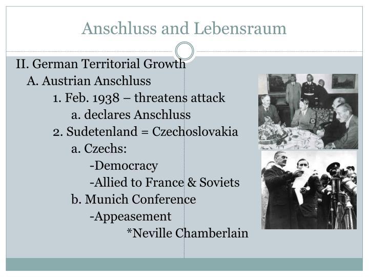 Anschluss and Lebensraum