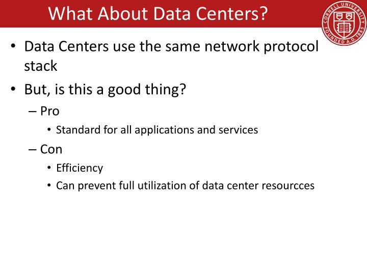 What About Data Centers?