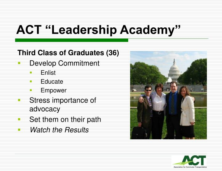 "ACT ""Leadership Academy"""