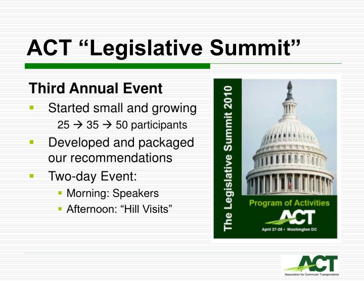"ACT ""Legislative Summit"""