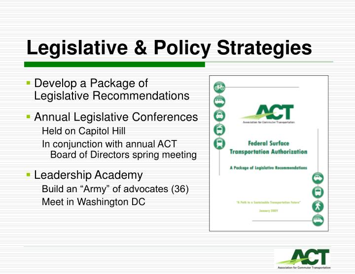Legislative & Policy Strategies