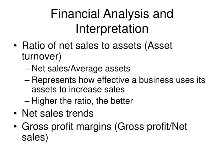 Financial Analysis and Interpretation